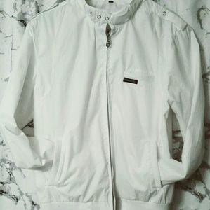 🔥members only crisp white bomber jacket 🔥